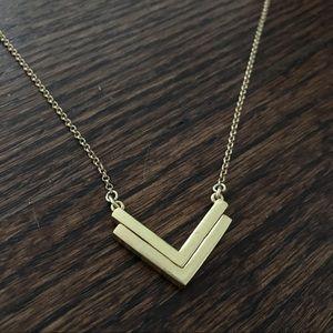 J. Crew double-sided brass arrow necklace